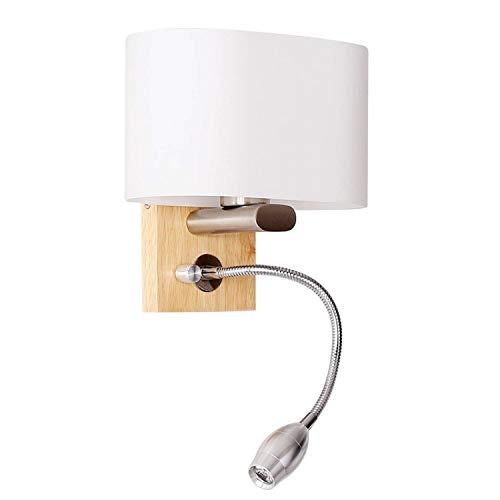 Liuqing Lámpara de cabecera LED Ajustable Manguera Lámpara de Lectura Lámpara de...