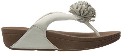 FitFlop Flowerball Leather Toe-post, Sandales à talon femme Off-White (Urban White)