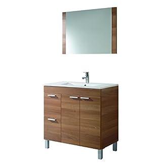 31FnVSjVCzL. SS324  - ARKITMOBEL Aktiva Mueble de baño, Melamina, Nogal, 45x80x80 cm