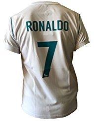 Ape-logo-t-shirt (Trikot Fußball Real Madrid Cristiano Ronaldo 7 Replik Official 2017-2018 Kinder Junge Männer (Größe 10 Jahre))