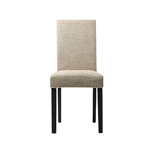 Esszimmerstühle YXX Hölzerner speisender seitlicher Stuhl, moderner Polsterungs-Gewebe-armlose...