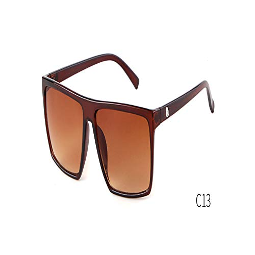 FGRYGF-eyewear2 Sport-Sonnenbrillen, Vintage Sonnenbrillen, NEW Oversized Square Sunglasses Men Brand Designer Thin KUNSTSTOFF Frame Resin Lens Male Black Sun Glasses Shades OM320 C13