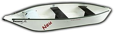 Canoa con 15años de garantía–Banana® de Nu–plegable canoa–Tipo 352, Blanco y Verde para kayak como canoa para facilitar el transporte–100% fabricado en Alemania.