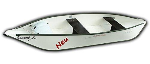 El nu Tipo Banana® 352la canoa plegable única, que es casi indestructible. montaje rápido y para más tiempo en el agua, ideal para viajes de excursión en todas las aguas interiores. opcional puede utilizarse una Electric Engine con 15años de garant...