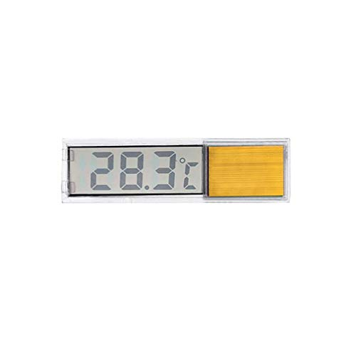 FangWWW Aquarium-Thermometer, LCD-Display, digital, elektronische Temperaturmessung gold