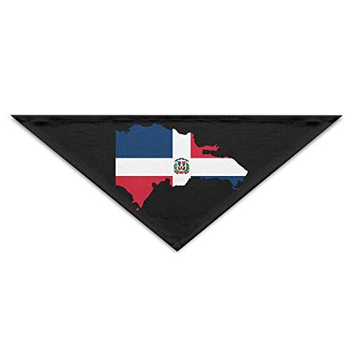 Osmykqe Dominican Republic Map Flag Pet Bandana Triangle Dog Cat Neckerchief Bibs Scarfs Accessories for Pet Cats and Baby Puppies (Med-maps)
