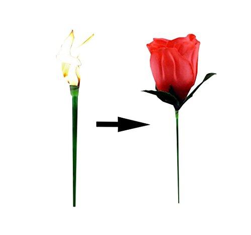 ★RM★ Zauberartikel Z14 Zauber Rose aus Feuer wird Rose Blume Liebe Zaubertrick Geschenk Magier Zauberer Street Magic Show Party Gadget ★RM★