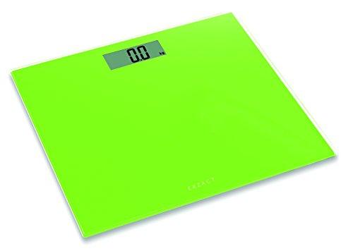 Exzact Bilancia Elettronica Corporea - Pesapersone Digitale - Scala Elettronica Corpo - Bilancia da bagno - 1,7 cm di spessore -150 kg (Verde)