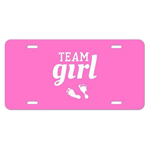 Team Girl Baby Pink Spuren Neuheit Metall Vanity Tag License - Plate Cover License Pink