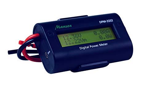 MANSON DPM-3332 Volt Ampere Meter Bidirektionales digitales DC-Leistungsmessgerät mit integriertem USB-Datenlogger Digital Meter, Dc Ampere
