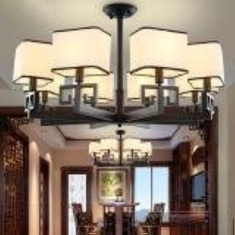 LLYY-Ferro di nuovo ristorante cinese illuminazione lampadario copre lampada illuminazione creativa dell'annata di soggiorno-camera da letto