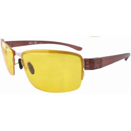 Preisvergleich Produktbild Eyekepper Nachtfahrbrille Nachtsichtbrille gelbe Gläser dünn PC Linse