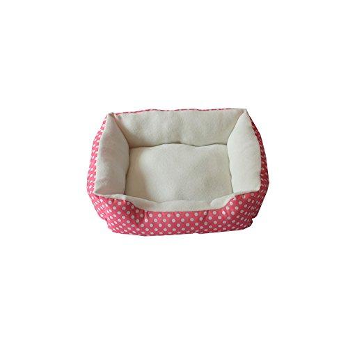 Teddy Gedruckte Hundehütte Hund Niedlichen Haustier Punktiert Haustiergruben Vip Boomi Chihuahua Kleines Hundennest mit Matte: 50 * 40 * 10Cm / Rosa Pink 10 32 Muttern