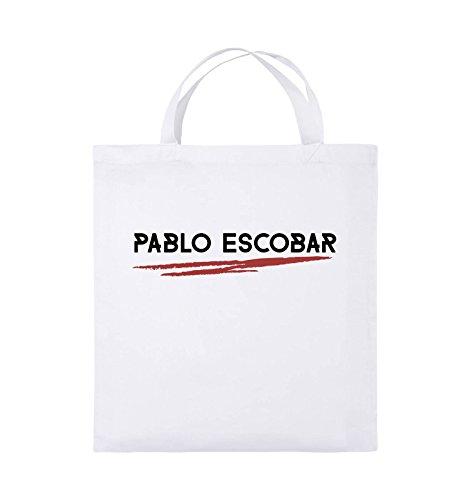 Colore Juta Pablo Nero rosso Escobar Corto Verde Bianco In Borsa 38x42cm Manico Comedy Bianco Borse Nero Narcos neon PvHq5YHw