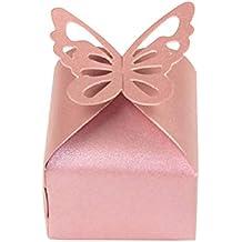 Toyvian Caja de Dulces de Mariposa Hueca Empaquetado de Papel Cajas de Regalo para Boda 10pcs
