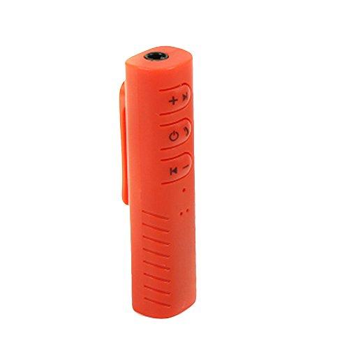 Tiptiper Hanbaili Lavalier-Bluetooth-Empfänger 4.1 Universal-3.5mm Klinke Audio Adapter Musik Bluetooth Empfänger Car Kit Hände frei für die Auto-Lautsprecher-Stereokopfhörer-Headset (Frei Die Bluetooth Hände Lautsprecher)