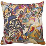 Wassily Kandinsky Composition Seven Throw Pillow Cover 18x18