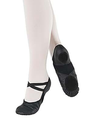 SO DANCA chausson de danse chaussure ballet ballerine - cuir - spandex noir 33.5
