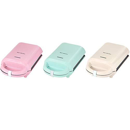 Waffle maker con piastre estraibili casa multifunzione sandwich maker mini snack cooker colazione fornello,pink