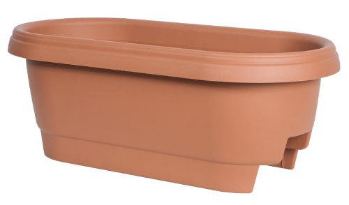 Preisvergleich Produktbild FISKARS POTTERY - Deck Rail Planter,  Clay,  24-In.