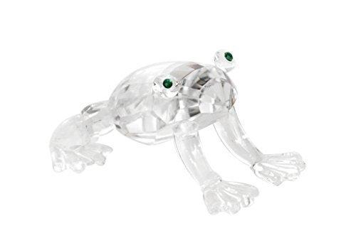 Brillibrum Design Glasfigur Frosch liebevoll gestaltete Tierfigur Froschfigur aus Glas kreiert