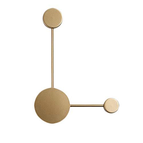 Appliques Nordique Post-Moderne Art Minimaliste LED Restaurant Salon Chambre Éclairage Décoratif UOMUN (Couleur : Or, Taille : 38 cm × 10 cm × 42 cm)