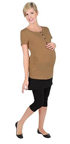 Be! mama 2 en 1 T-Shirt D'Allaitement - Débardeur D'Allaitement, Fait T-Shirt, Muse - Beige -