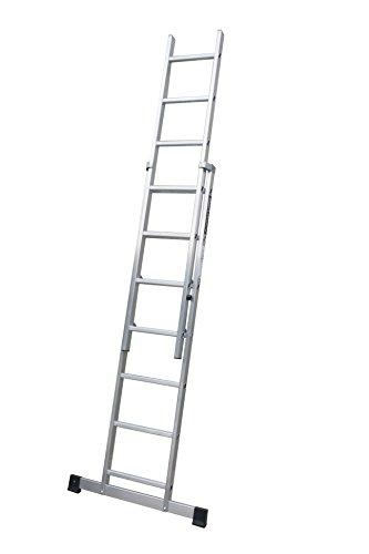ALTIPESA Escalera Profesional de Aluminio de Apoyo Extensible con Barra estabilizadora 2 x 9 peldaños Serie Top