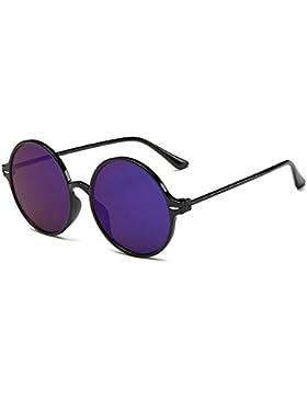 KINDOYO Gafas de sol retro para mujer, gafas de sol redondas, gafas reflectantes, protección UV400, gafas de sol...