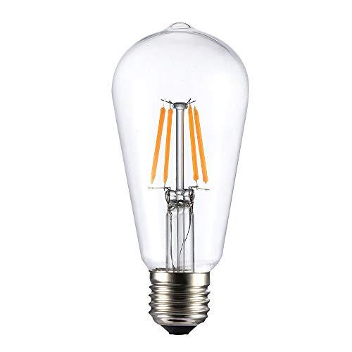 WRMING Farbe Vintage Edison LED Glühbirne E27 Dekorative Glühlampe 3 Stck,Red