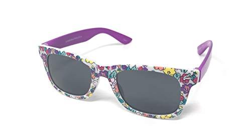 9d7c815595 Purple Flowery Childrens Classic Sunglasses UV400 Protection Unisex UVA UVB  Kids Girls Boys Retro Vintage Style