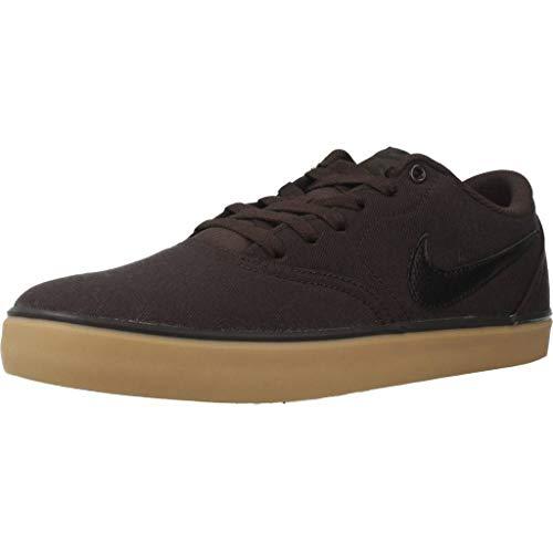 Nike Unisex-Erwachsene Sb Check Solar CNVS Fitnessschuhe, Mehrfarbig (Velvet Brown/Black/Gum Yellow 201), 41 EU Black Velvet Sneakers