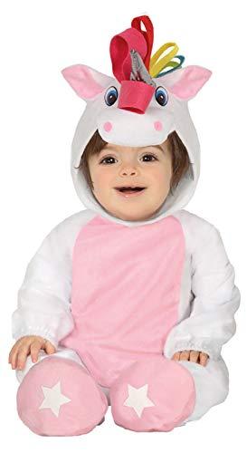 Fancy Me Baby Mädchen Süßes Weiß Pink Regenbogen Magisches Mythisches Einhorn Karneval Kostüm Outfit (Magische Einhorn Baby Kostüm)