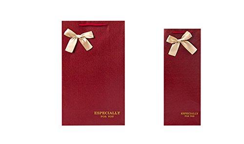 YARBAR Riutilizzabili sacchetti regalo vino set di borse 10 pacchetti