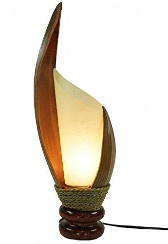 Deko-Leuchte LOTUS KARIMA, Tisch-Lampe aus Natur-Materialien, Stimmungsleuchte, Höhe ca. 50 cm (Höhe-tisch-lampe)