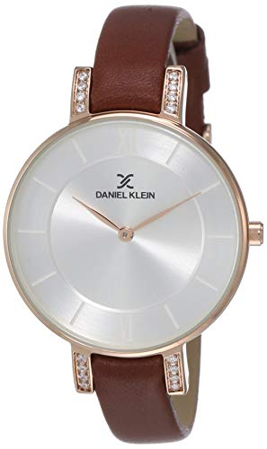 Daniel Klein Analog Silver Dial Women's Watch-DK12027-3