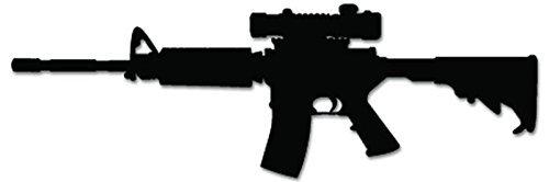 AR-15 Assault Rifle Scope - [6 inch/15 cm Wide] - Aufkleber von SUPERSTICKI® für Auto,Scheine,Lack,Motorrad,Wandtattoo,Tattoo Sticker, Autoaufkleber für alle glatten Flächen, Aufkleber ohne Hintergrund - Profi-Qualität -