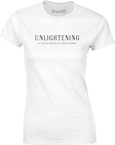 Brand88 - Unlightening, Mesdames T-shirt imprimé Blanc/Noir