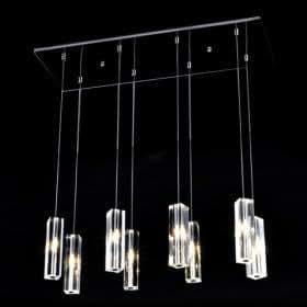luminaire suspendu 160w avec 8 projecteurs cristaux vedette cubo de base de l 39 ampoule g4. Black Bedroom Furniture Sets. Home Design Ideas