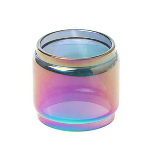 Creed Zerstäuber (Regenbogen Transparente Glasröhre Ersatz Fatboy Glastank Elektronische Zigarette Vape Zubehör Für 6.5ML Creed RTA Vaporizer Zerstäuber)