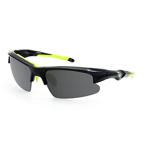YISHIOR Sonnenbrillen für Herren und Damen, Polarisierte Flach- / Nachtsichtbrillen Sportbrillen Angeln Golf/Angeln/Radfahren/Laufbrillen,Meteoriteblack