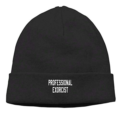 LOZWES Professional Exorcist New Winter Hats Knitted Twist Cap Thick Beanie Hat Black