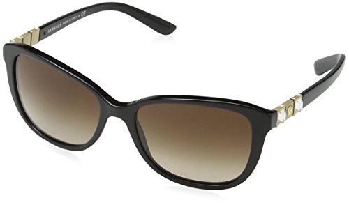 Versace Unisex VE4293B GB1/13 Sonnenbrille, Schwarz (Black), One size (Herstellergröße: 57)