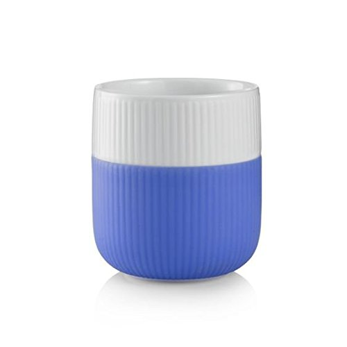 Royal Copenhagen - Tazza da 33 cl con bordo a contrasto, colore: azzurro