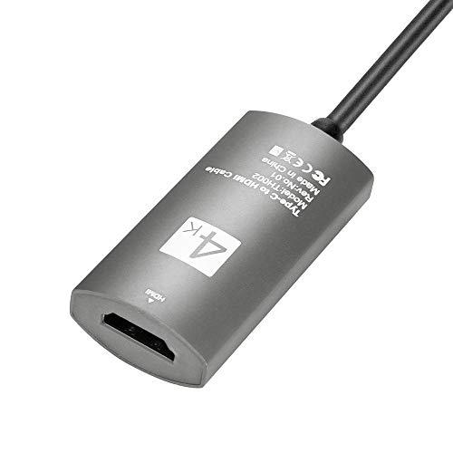 WOB USB 3.1 Typ C USB-C zu HDMI 4K HDTV Adapter,USB 3.1 Typ Czu HDMI 4K HD 1080P für digitales HDTV-TV für Samsung Galaxy Note 9 für MacBook (Grau)