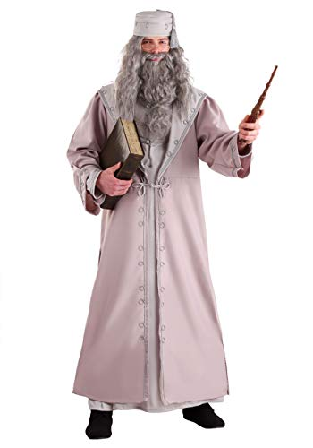 Dumbledore Bart Kostüm - Deluxe Dumbledore Adult Fancy dress costume Small
