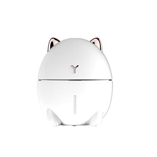 Diffuseur d'Huiles Essentielles 200ml Humidificateur Silencieux Diffuseur Arrêt Automatique Intelligent Mini chat USB Mignon pour Spa Yoga Sunenjoy (blanc)