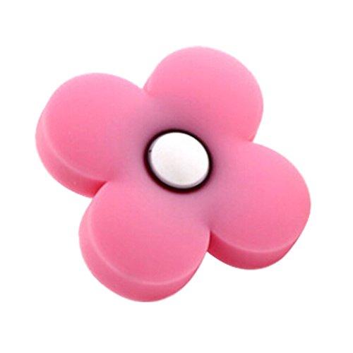 Preisvergleich Produktbild 2ST Schöne Kinder Türgriffe festen rosa Blume geformt Schubladengriffe