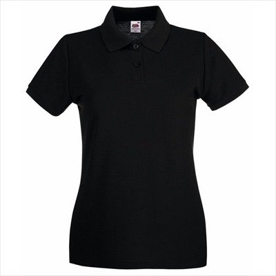 Fruit of the Loom - Lady-Fit Premium Polo - Modell 2013 M,Black