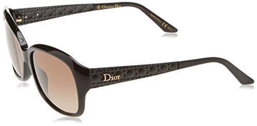 Dior Damen DIORCOQUETTE2 HA ACZ Sonnenbrille, Schwarz (Blackblacksl/Brown Sf), 56